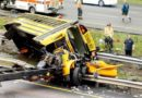 AMERICA-USA: MOUNT OLIVE, N.J. – Multiple people hurt after school bus, dump truck crash