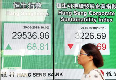 BIZ-ASIAN STOCK MARKET: Hong kong – Asian markets mostly up but trade war fears keep dealers on edge