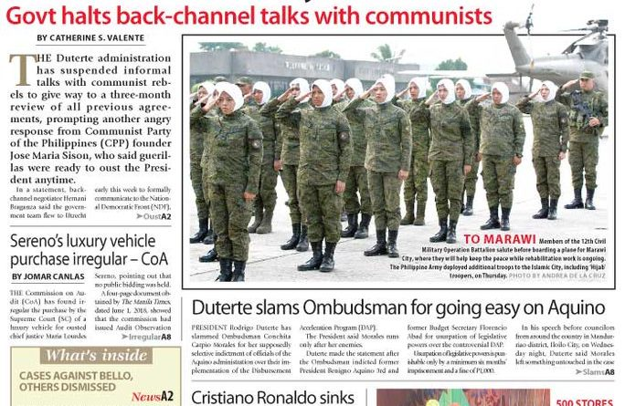 ASEANEWS HEADLINES: Manila – Communist Party of the Philippines (CPP) founder Jose Maria Sison, said guerillas were ready to oust the President Duterte anytime.