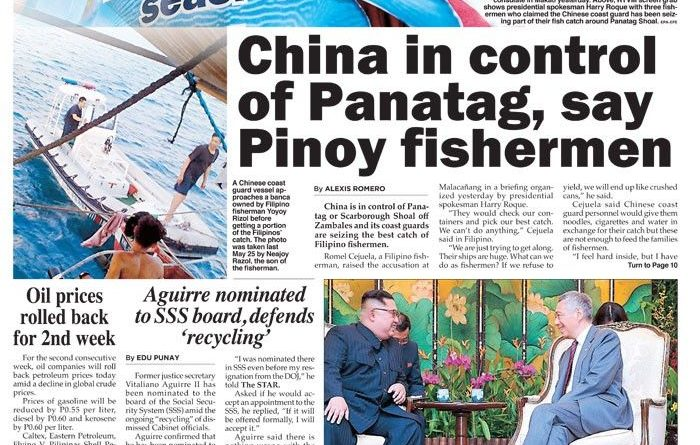 Image result for chinese coastguard taking fishes from filipinos