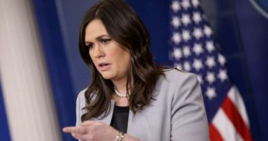 POLITICS-MEDIA: Washington – Sarah Sanders says she was kicked out of Virginia restaurant