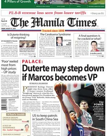 ASEANEWS HEADLINES: MANILA –  Duterte may step down if Marcos becomes VP