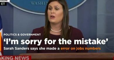 US POLITICS-CYBER CRIME: WASHINGTON – Sarah Huckabee Sanders Admits Mistake On Obama's Black Employment Numbers
