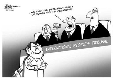 OP ED EDITORIAL & CARTOONS: MANILA-  INTERNATIONAL PEOPLE'S TRIBUNAL