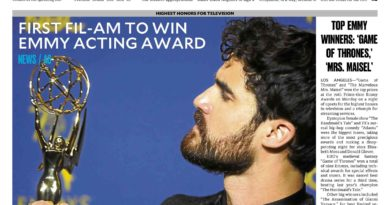ASEANews HEADLINE: 70th EMMY AWARD-TV SERIES: LOS ANGELES– Fil-Am wins Emmy for Versace flick