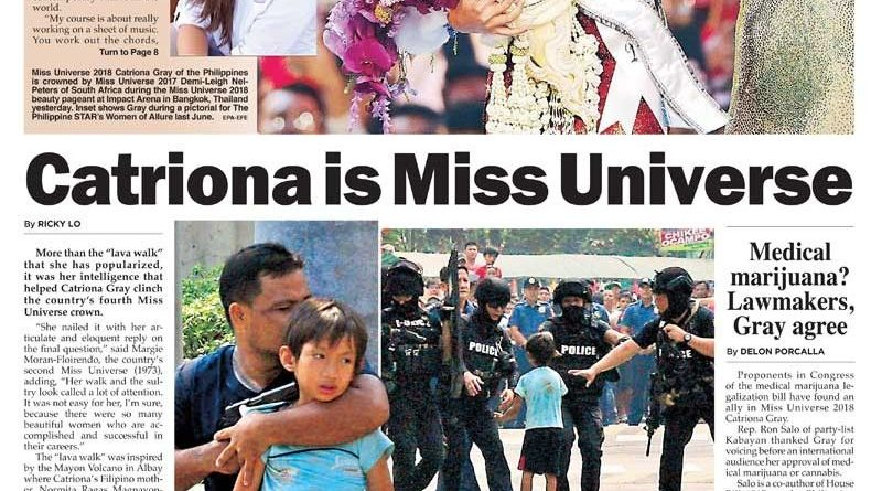 MISS UNIVERSE: BANGKOK- Former Philippine Miss Universe