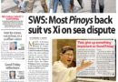 HEADLINES : MANILA – SWS: Most Pinoys back suit vs Xi on sea dispute