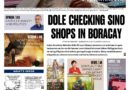 HEADLINES : MANILA – Dole checking Chinese shops on Boracay