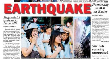 HEADLINES : MANILA –   Earthquake :  Magnitude 6.1 quake rocks Luzon, MM • Scores crushed in supermarket