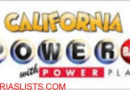 CA LOTTO – POWER BALL: Saturday, June 15, 2019 – $79 Million