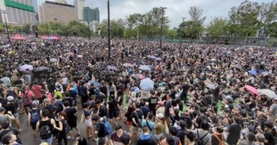HONG KONG:  Tens of thousands gather at Victoria Park in Hong Kong for anti-govt rally