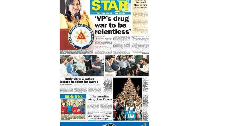 ASEAN DRUG WAR: Philippine 'Vice President Leni Robredo's drug war to be relentless'