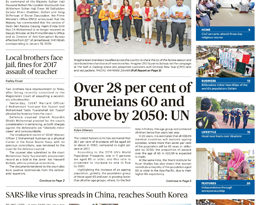 ASEAN TABLOIDS* Front Pages, Tuesday, Jan. 21, 2020- Over 28 per cent of Bruneians 60 and above by 2050: UN