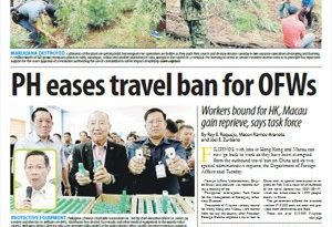 ASEANEWS-The COVID19: PH eases travel ban for OFWs Workers bound for HK, Macau gain reprieve, says task force