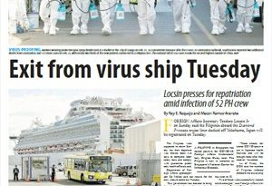 ASEANEWS-The COVID19: MANILA- Exit from virus ship Tuesday