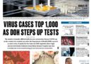 ASEANEWS FRONT PAGES: MANILA- 1,075 people in PH have coronavirus disease – DOH