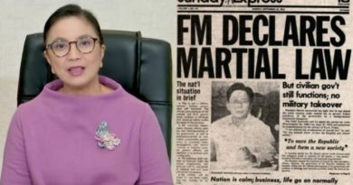 DU30'S EJK:  MANILA- Never Forget: Robredo urges Pinoys to reject 'lies' on 48th anniversary of martial law