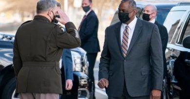 PRES. JR BIDEN JR- 100 DAYS/DAY4  Austin breaks barrier as first Black US defence secretary