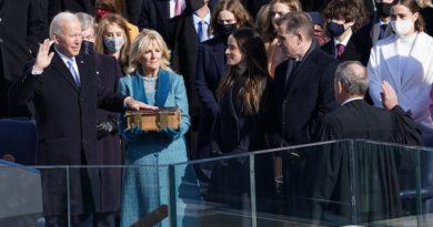 HEADLINE: US PRES. J.R. BIDEN INAUGURATION: WASHINGTON-   Joe Biden sworn in as 46th U.S. president, urges end to 'uncivil war'