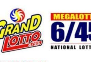 PHILIPPINE LOTTO PCSO: Mega 6/45 & Grand 6/55 : Wed. 09/22/2021