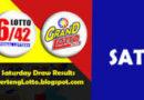 PHILIPPINE LOTTO: Lotto 6/42 & Grand 6/55: SAT. 09/18/2021