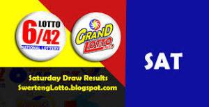 PHILIPPINE LOTTO: Lotto 6/42 & Grand 6/55: SAT. 10/16/2021